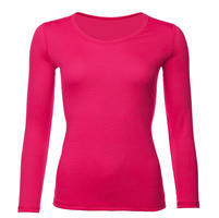 Dámské funkční triko Merino 140 dlouhý rukáv růžové