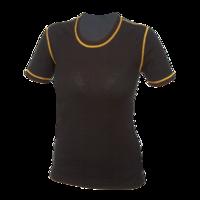 Dámské funkční tričko Merino 210 černé s oranž švy