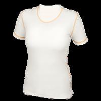 Dámské funkční tričko Merino 210 přírodní, oranž švy
