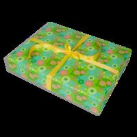 Dárkové balení zelené květy