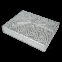 Dárkové balení stříbrné pruhy