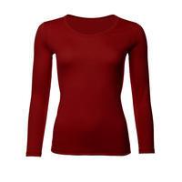 Dámské funkční triko Merino 140 dl.rukáv cihlově červená