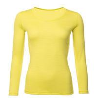 Dámské funkční triko Merino 140 dlouhý rukáv žluté