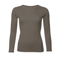 Dámské funkční triko Merino 140 dl.rukáv vintage khaki