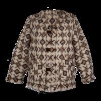 Kabátek vlněný se vzorem