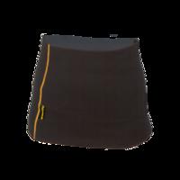 Funkční dámský ledvinový pás Merino 210 černý s oranž švy