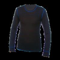 Pánské funkční triko Merino 210 dlouhý rukáv černé, modré švy