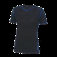 Pánské funkční tričko Merino 210 černé, modré švy
