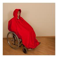 Pláštěnka pončo červená
