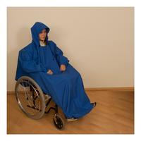 Pláštěnka s rukávem světle modrá