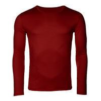 Pánské funkční triko Merino 140 dl.rukáv cihlově červená