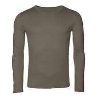 Pánské funkční triko Merino 140 dl.rukáv vintage khaki