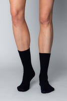 Vlněné ponožky Woolife Rib Black