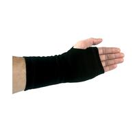 Vlněné rukavice bez prstů černé