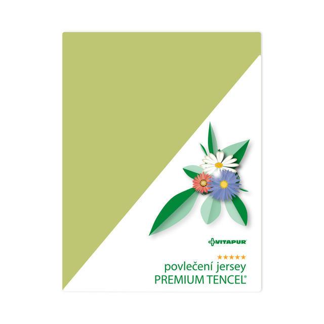Povlečení  jersey PREMIUM TENCEL zelené - polštář - 1