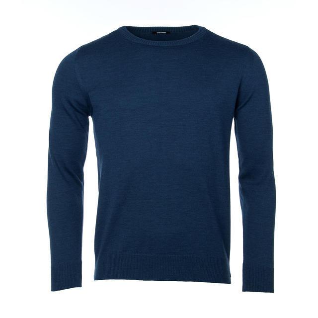 Pánský vlněný svetr Merino Extra Fine - Navy Blue - 1