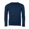 Pánský vlněný svetr Merino Extra Fine - Navy Blue - 1/2