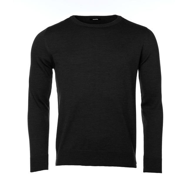 Pánský vlněný svetr Merino Extra Fine - Black Night - 1