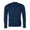 Pánský vlněný svetr se zipem Merino Extra Fine - Navy Blue - 1/2