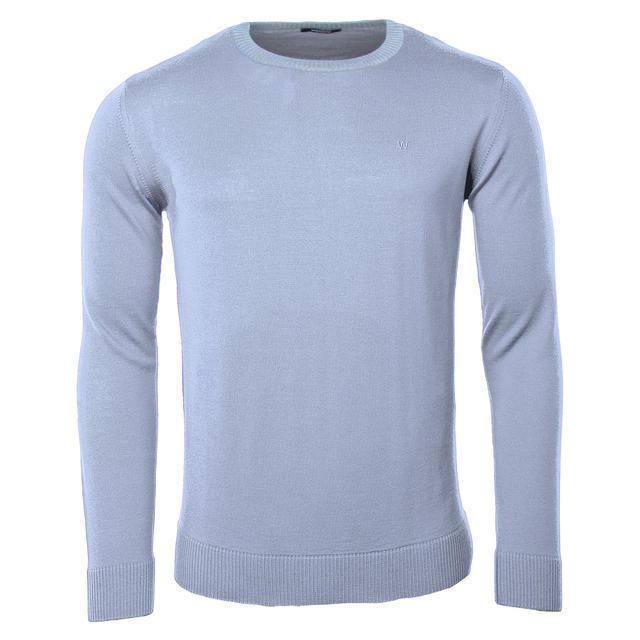 Pánský vlněný svetr Merino Extra Fine - Grey - 1