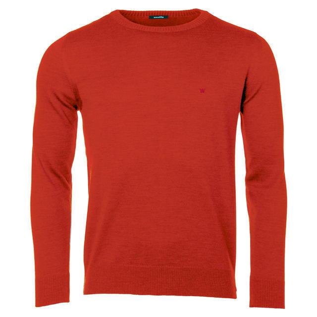 Pánský vlněný svetr Merino Extra Fine - Red - 1