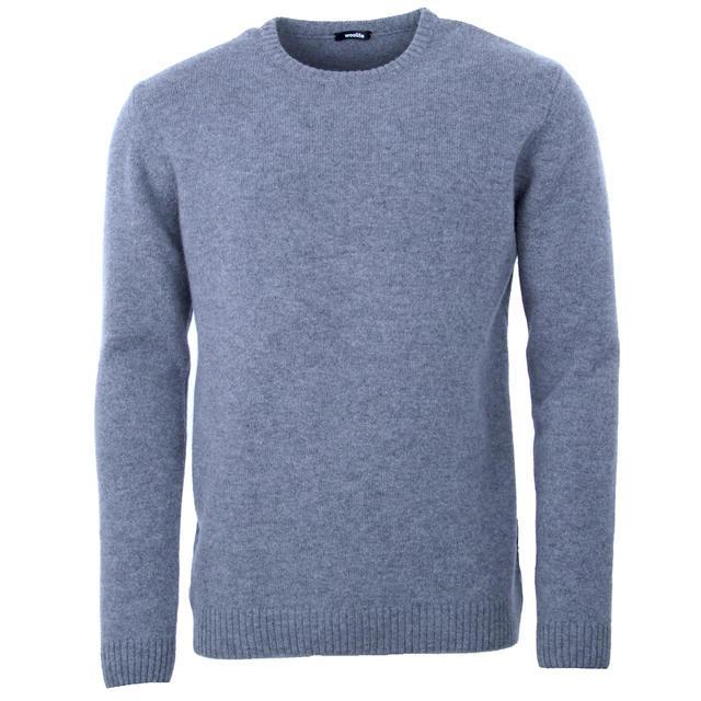 Pánský vlněný svetr Lambswool - Grey - 1
