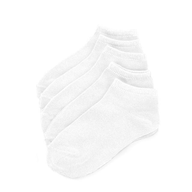 Ponožky FLEXI kotníčkové 31-32 bílé 5 párů, 31-32
