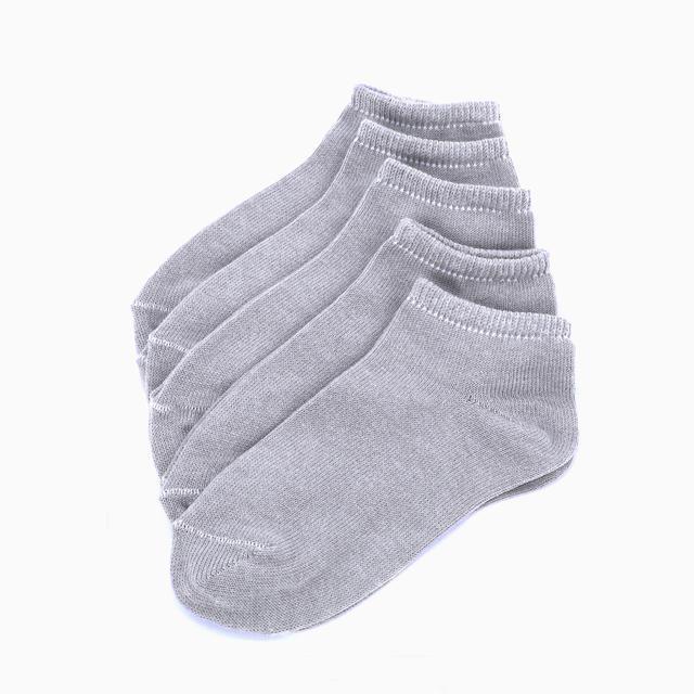 Ponožky FLEXI kotníčkové 29-30 šedé 5 párů, 29-30