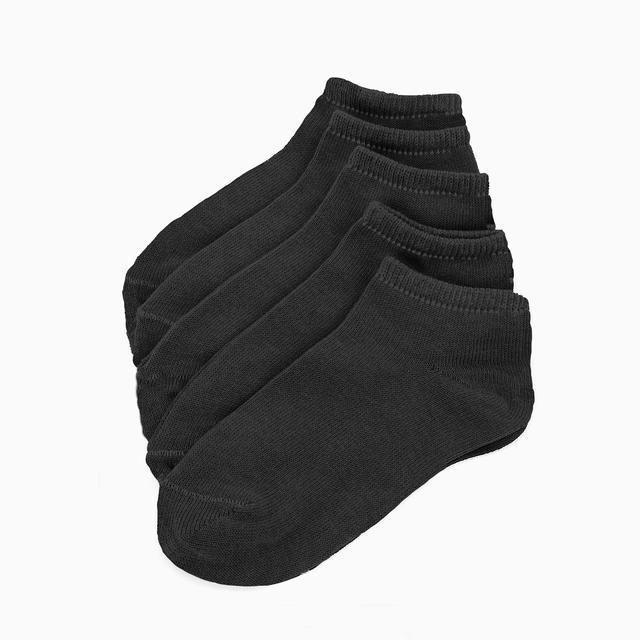 Ponožky FLEXI kotníčkové 29-30 černé 5 párů, 29-30