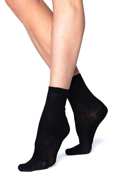 Ponožky jemné bavlněné dámské 2 páry černá - 1