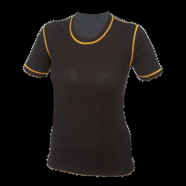 Dámské funkční tričko Merino 210 černé s oranž švy - 1
