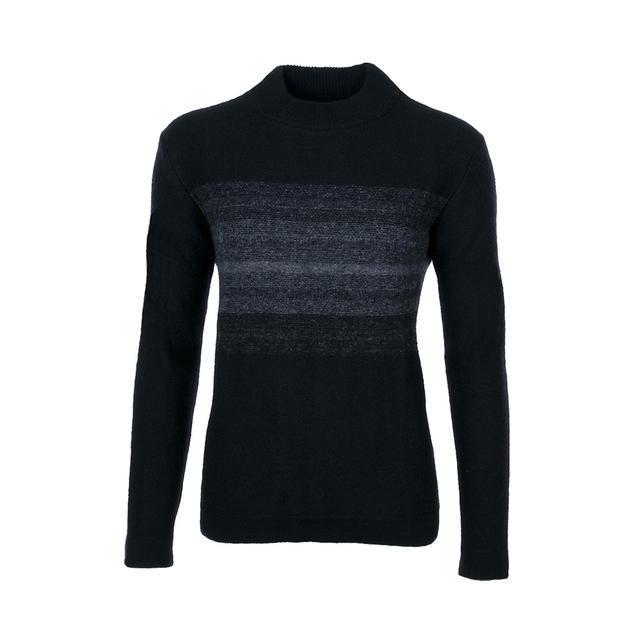 Dámský vlněný svetr GS Merino Extra Fine - Black/Grey - 1