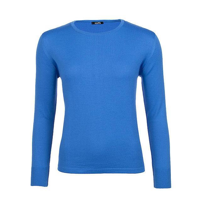 Dámský vlněný svetr Merino Extra Fine - Blue Heaven - 1