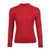 Dámský vlněný svetr se vzorem Merino Extra Fine – Autumn Red - 1/3
