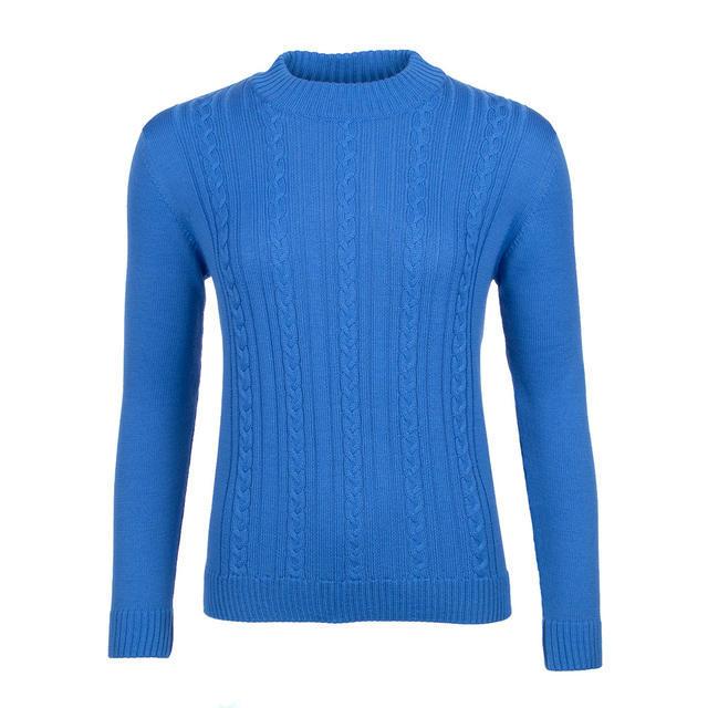 Dámský vlněný svetr se vzorem Merino Extra Fine – Blue Heaven - 1