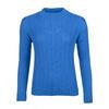 Dámský vlněný svetr se vzorem Merino Extra Fine – Blue Heaven - 1/3