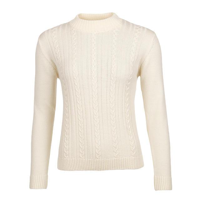 Dámský vlněný svetr se vzorem Merino Extra Fine - Vanilla Ice - 1