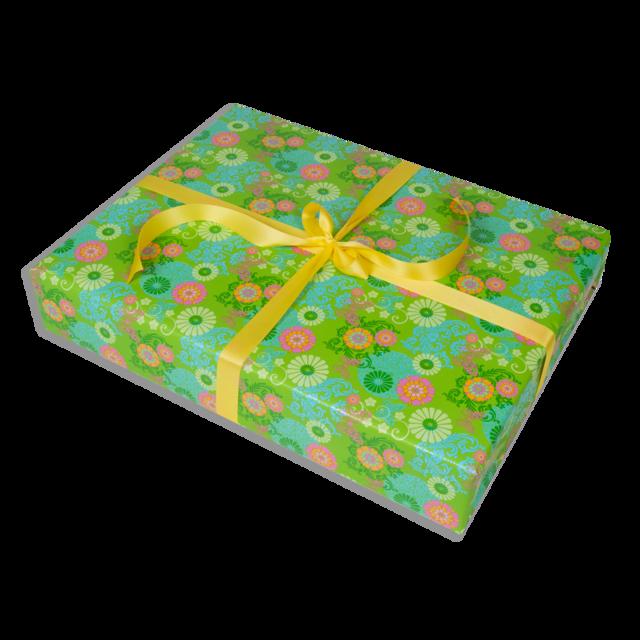 Dárkové balení zelené květy - 1