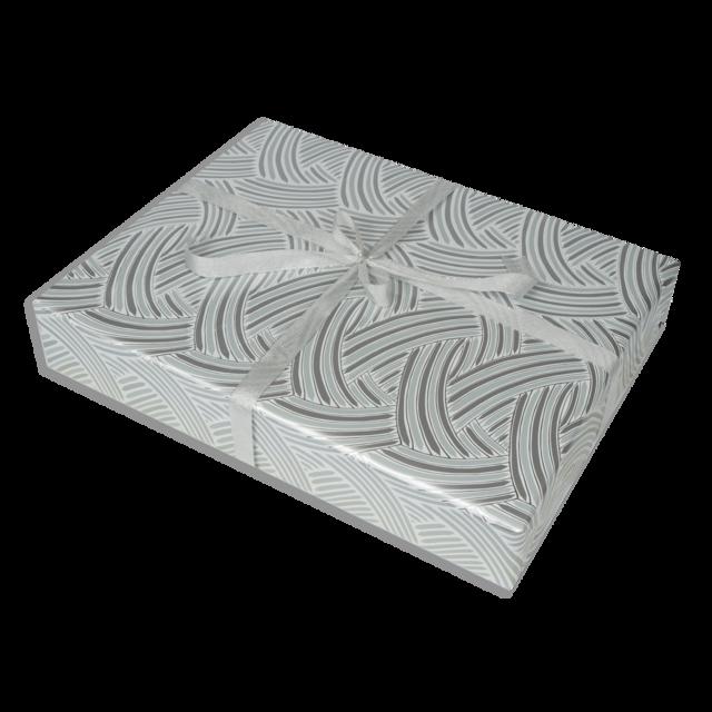 Dárkové balení stříbrné pruhy - 1