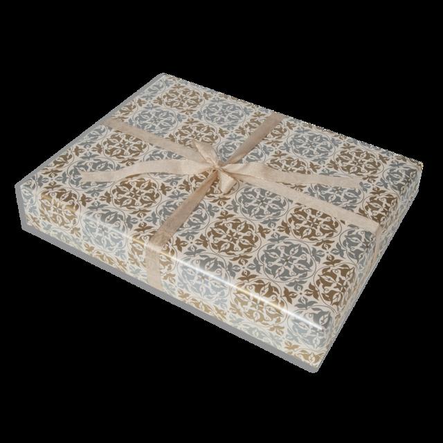 Dárkové balení zlatostříbrná textura - 1