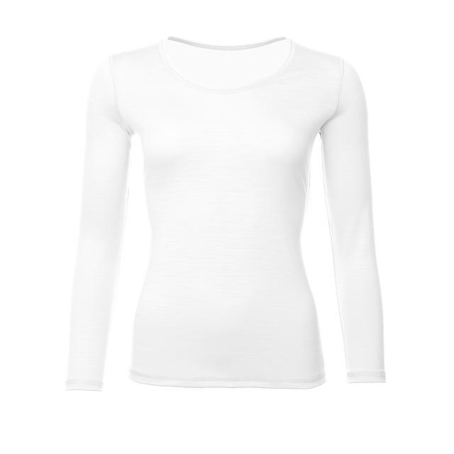 Dámské funkční triko Merino 195 dlouhý rukáv bílé - 1