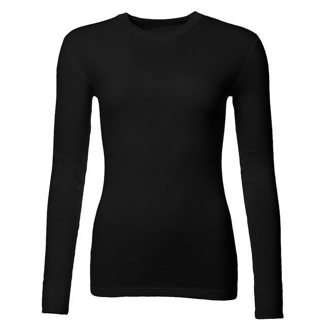 Dámské funkční triko Merino 210 dlouhý rukáv černé - 1