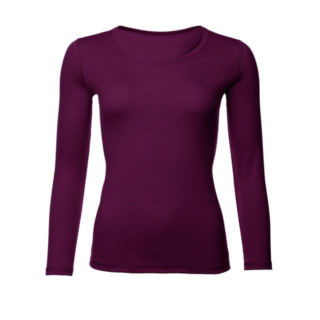 Dámské funkční triko Merino 140 dl.rukáv fialová švestka M, M - 1