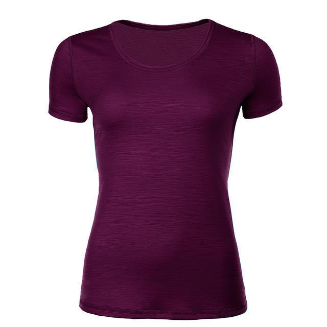 Dámské funkční tričko Merino 140 fialová švestka XXL, XXL - 1