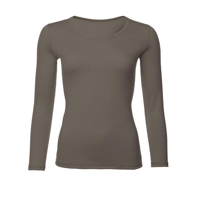 Dámské funkční triko Merino 140 dl.rukáv vintage khaki M, M - 1