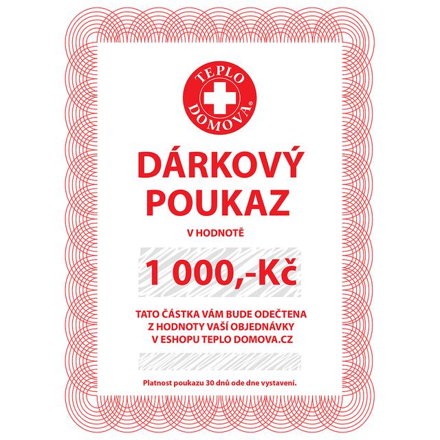 Dárkový poukaz 1000Kč/40Eur