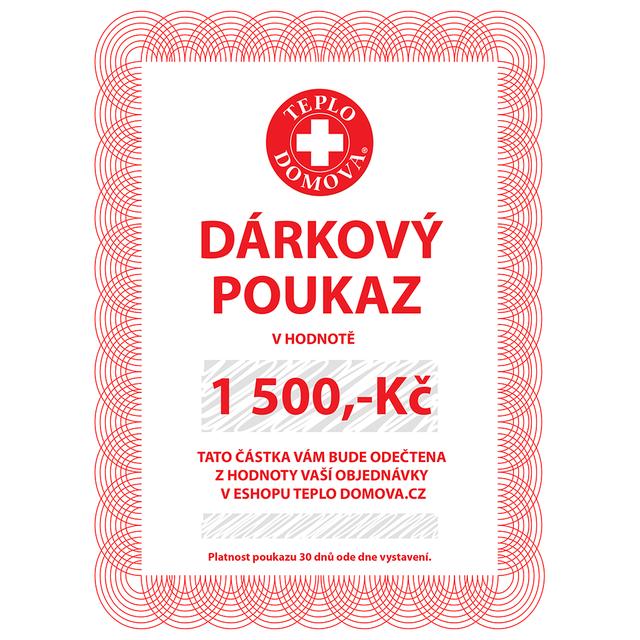 Dárkový poukaz 1500Kč/60Eur