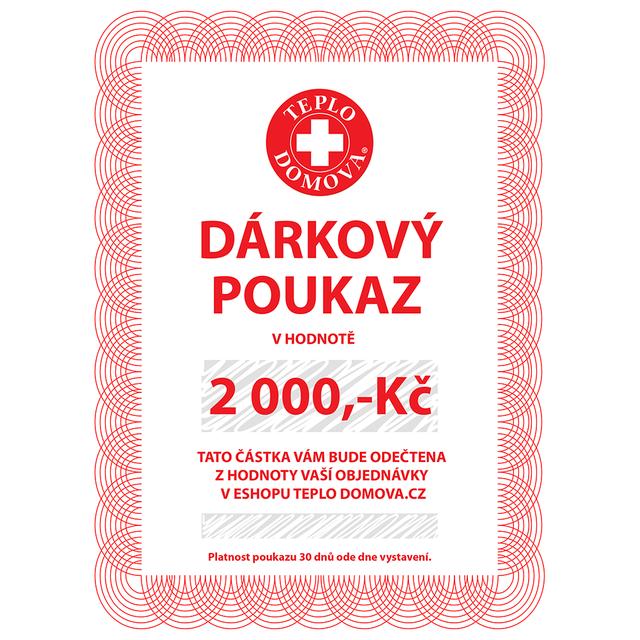 Dárkový poukaz 2000Kč/80Eur