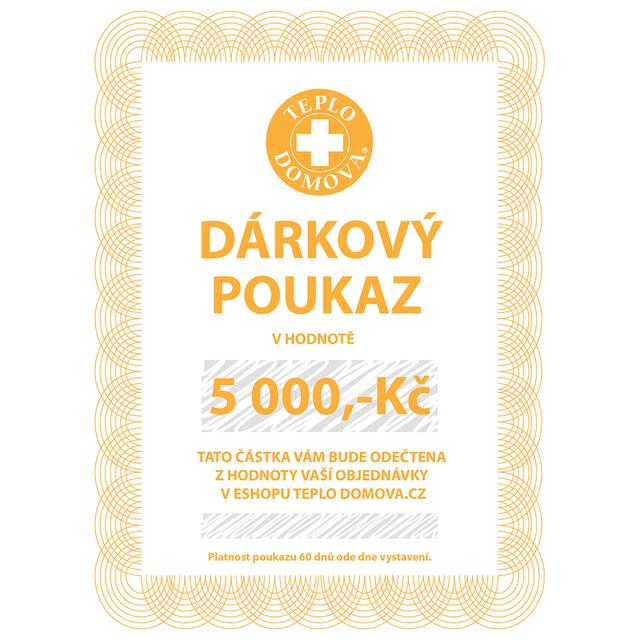 Dárkový poukaz 5000Kč/200Eur