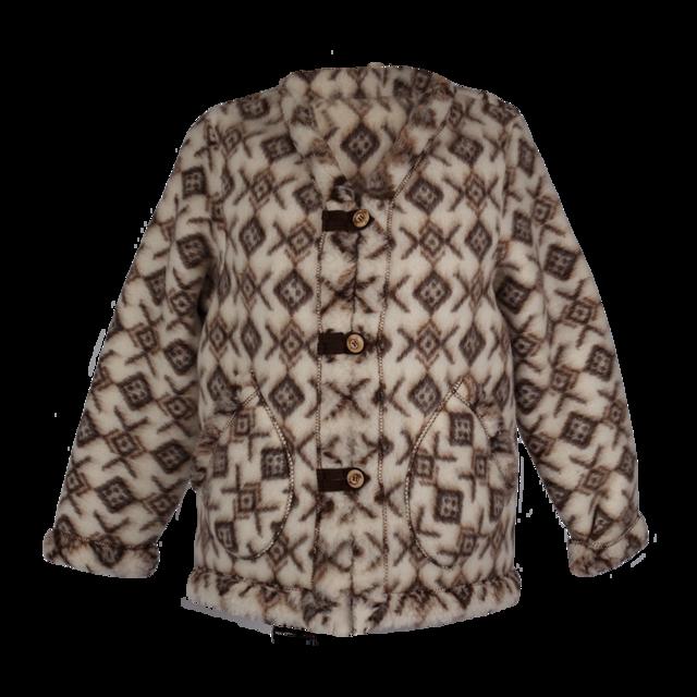 Kabátek vlněný se vzorem - 1